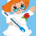 Fri bild sköterska
